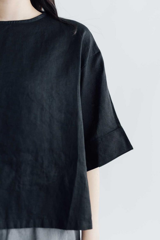 fog linen work ビビアナ トップ ブラック