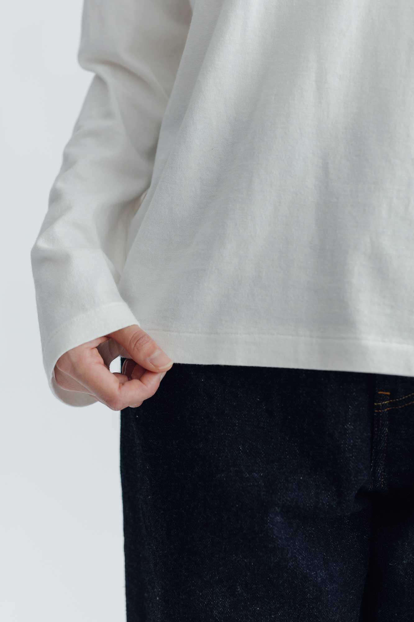 YAECA プリントTシャツ INK ホワイト