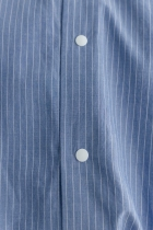 YAECA コンフォートシャツ ワイド ブルーストライプ