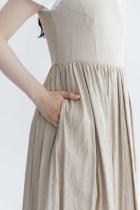 YAECA WRITE タックドレス スリーブレス