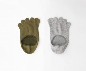 Gluck und Gute「足の肌着」絹と綿 ショート(カシミヤ混)
