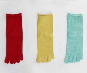 Gluck und Gute「足の肌着」絹と綿 petta