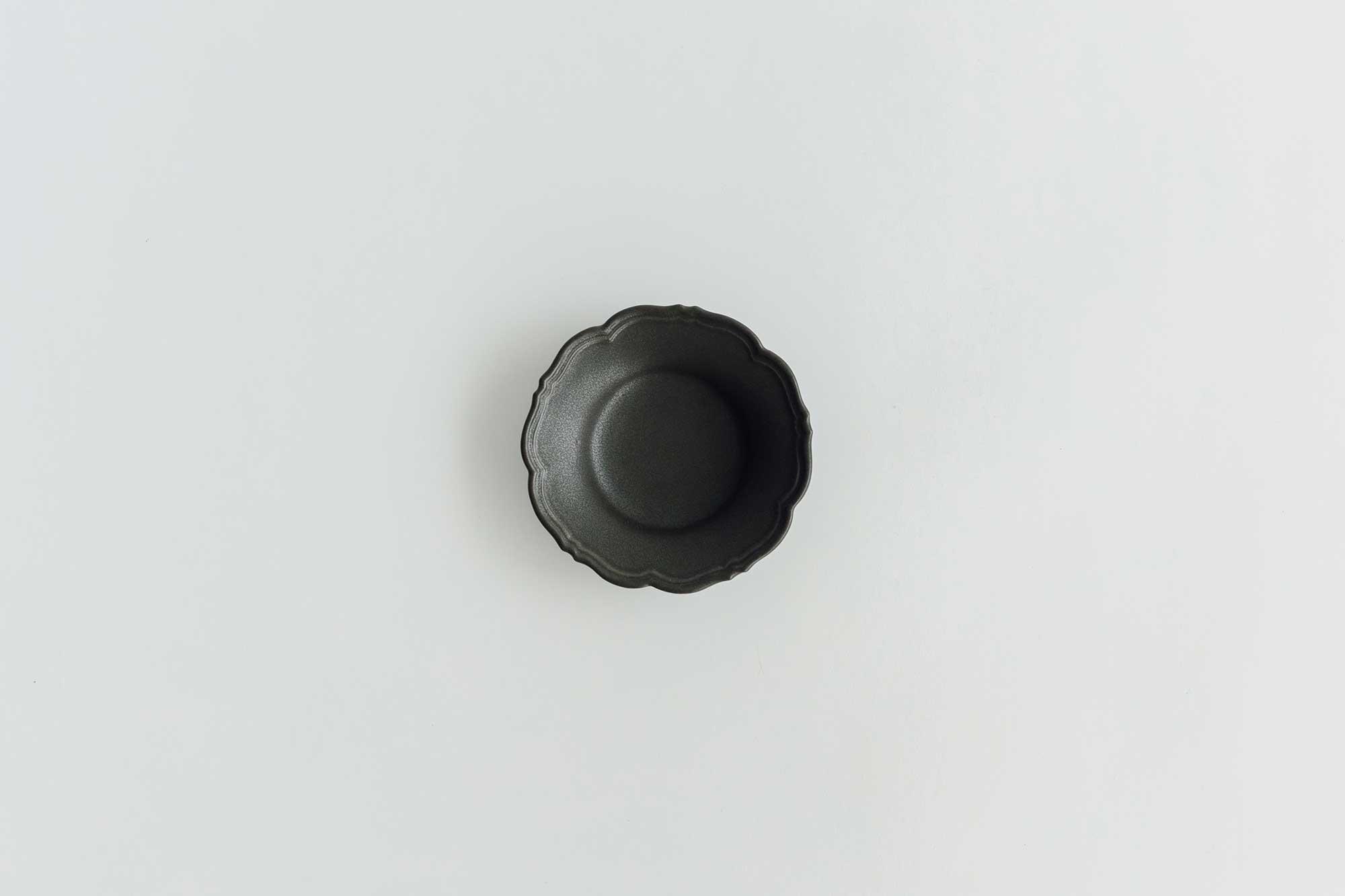 Awabi ware 輪花皿 S