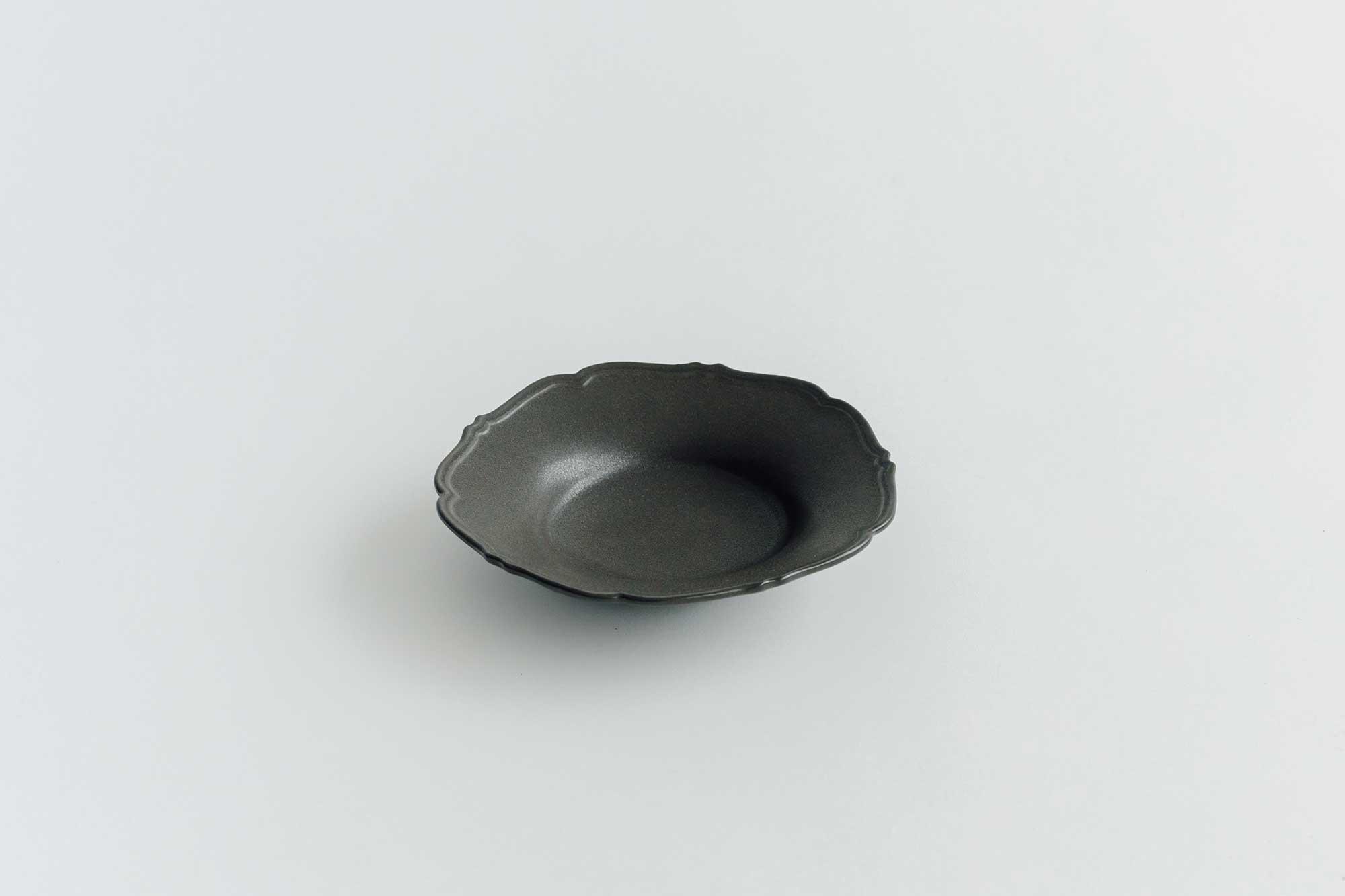 Awabi ware 輪花中深皿