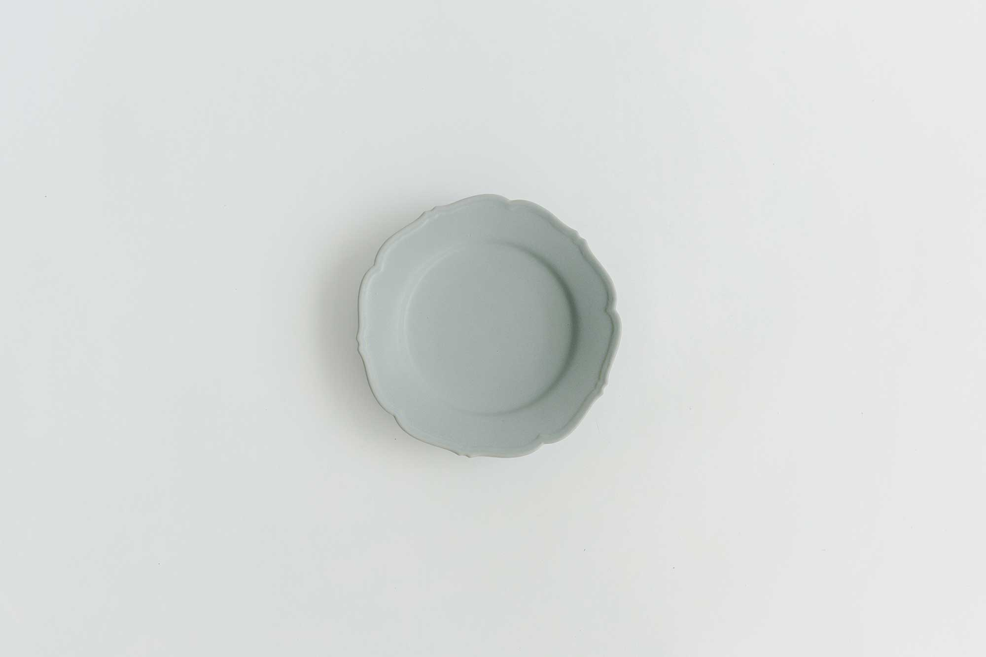 Awabi ware 輪花皿 M