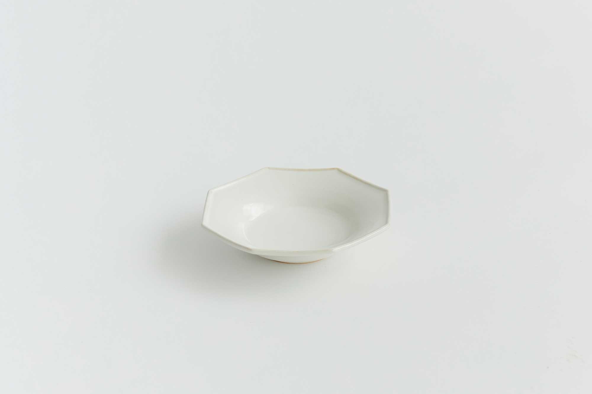 Awabi ware 八角中深皿