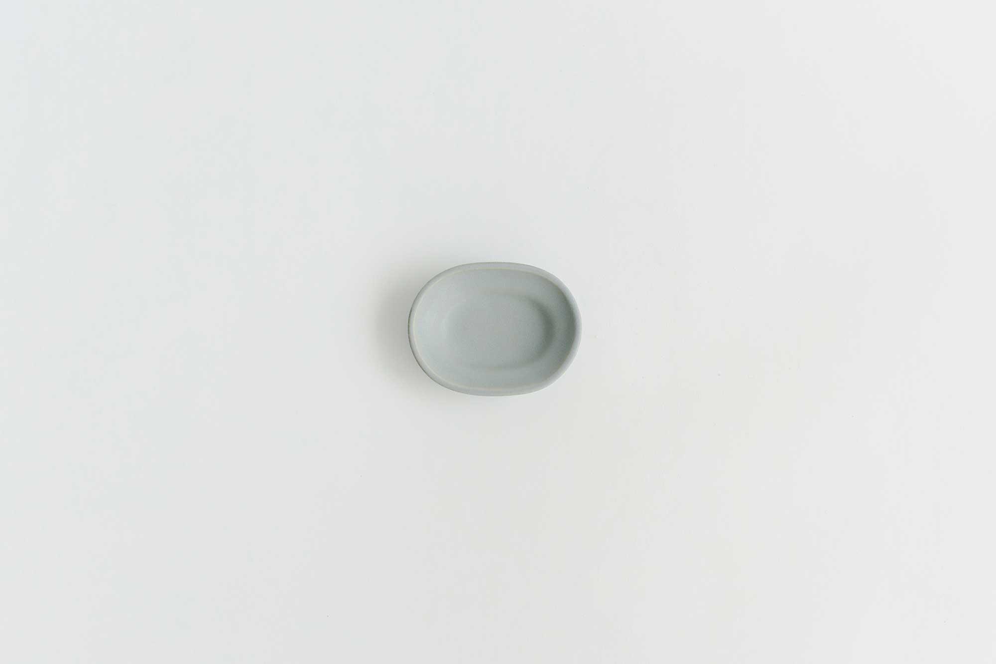 Awabi ware 楕円豆皿