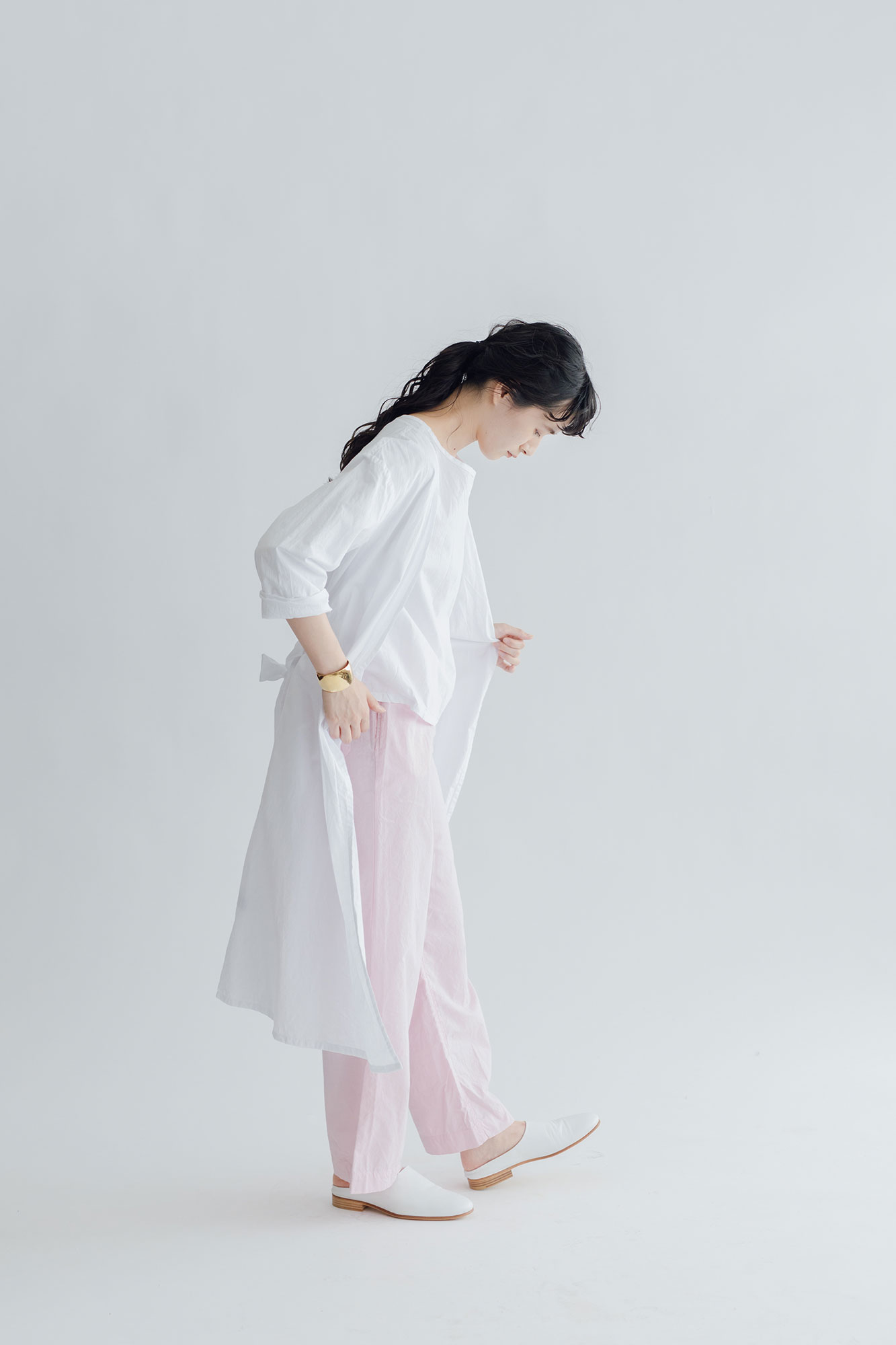 miiThaaii ラクシュミ コート ホワイト