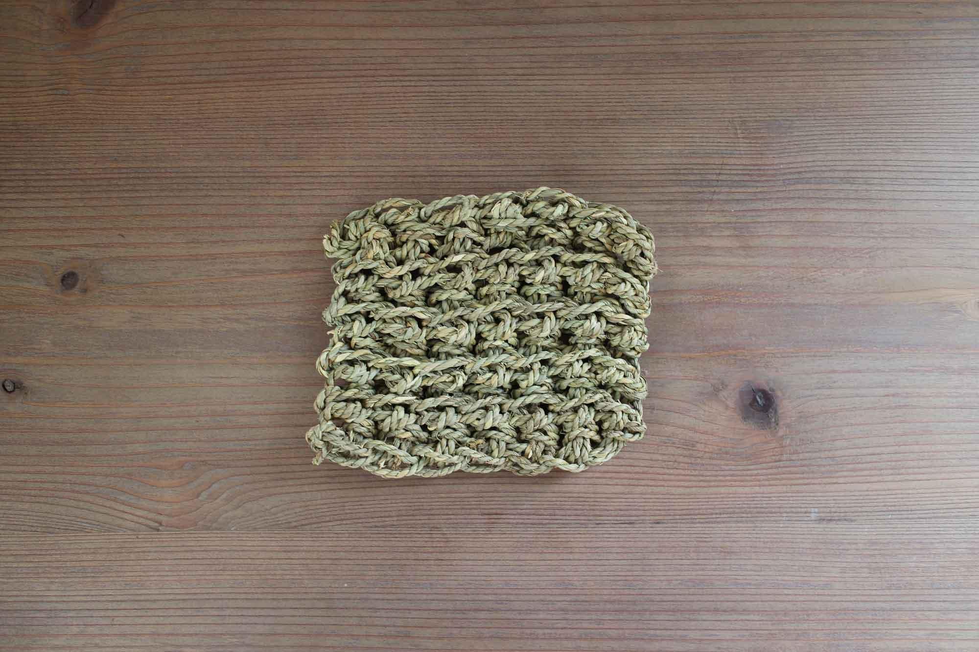 F/style スゲの縄の鍋敷き