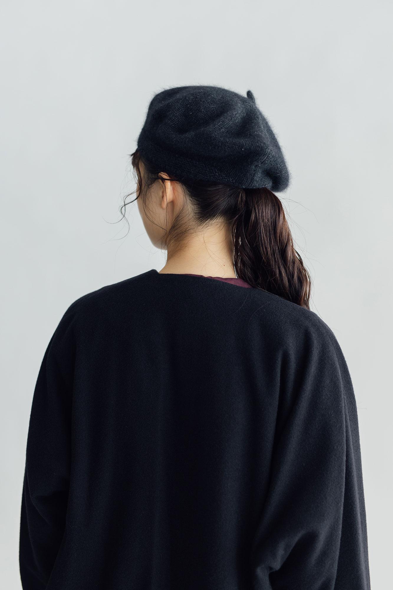 Atelier d'antan Verlaibe ウール コート ブラック