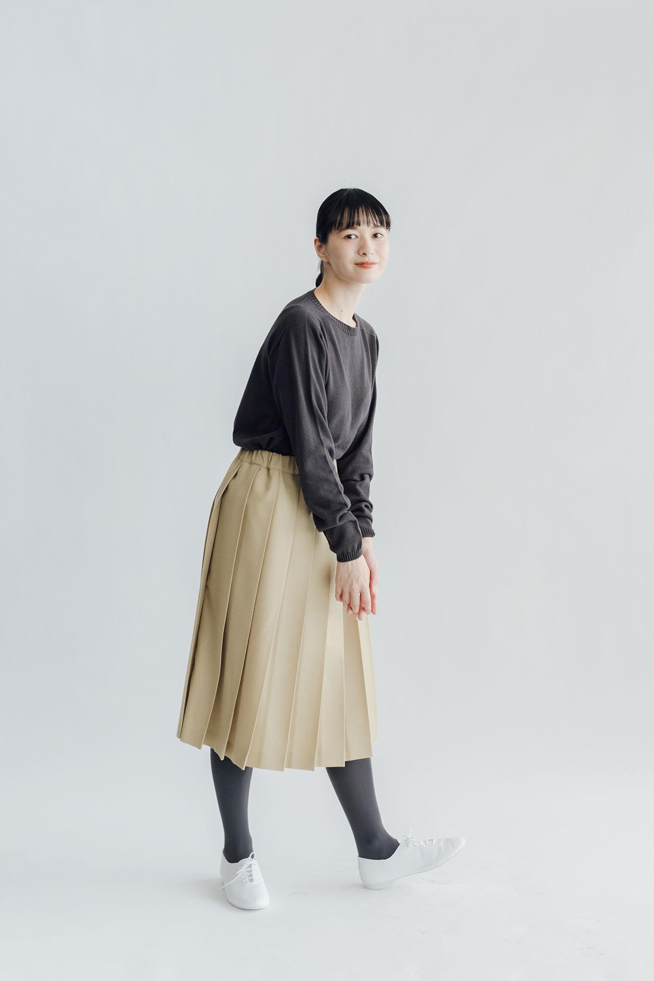 F/style ホールガーメントの綿麻ニット ボトルネック・長袖 / ユニセックス