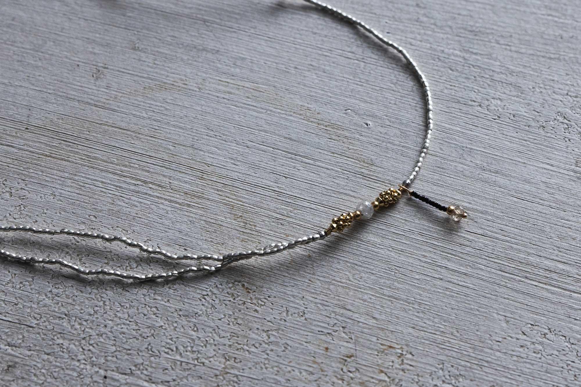 立田暁子 ネックレス ナチュラルダイヤモンド 50cm