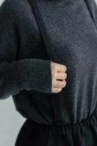 koton ウールギャバ コクーンスカート ブラック