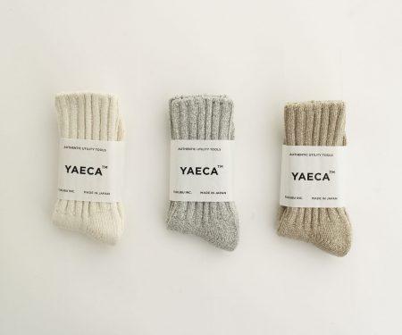 YAECA コットン シルク ソックス