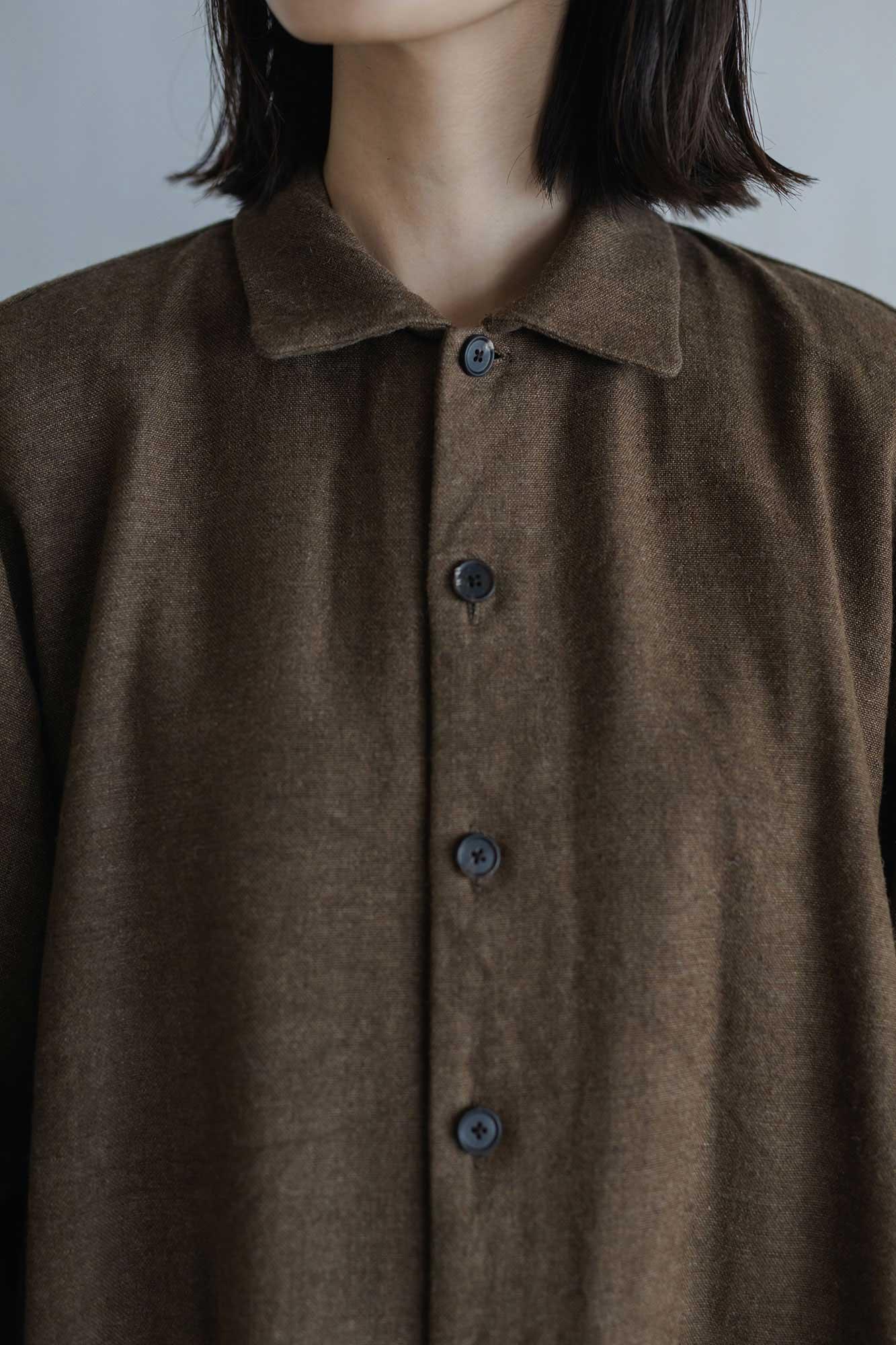 YAECA WRITE ワークシャツドレス ブラウン