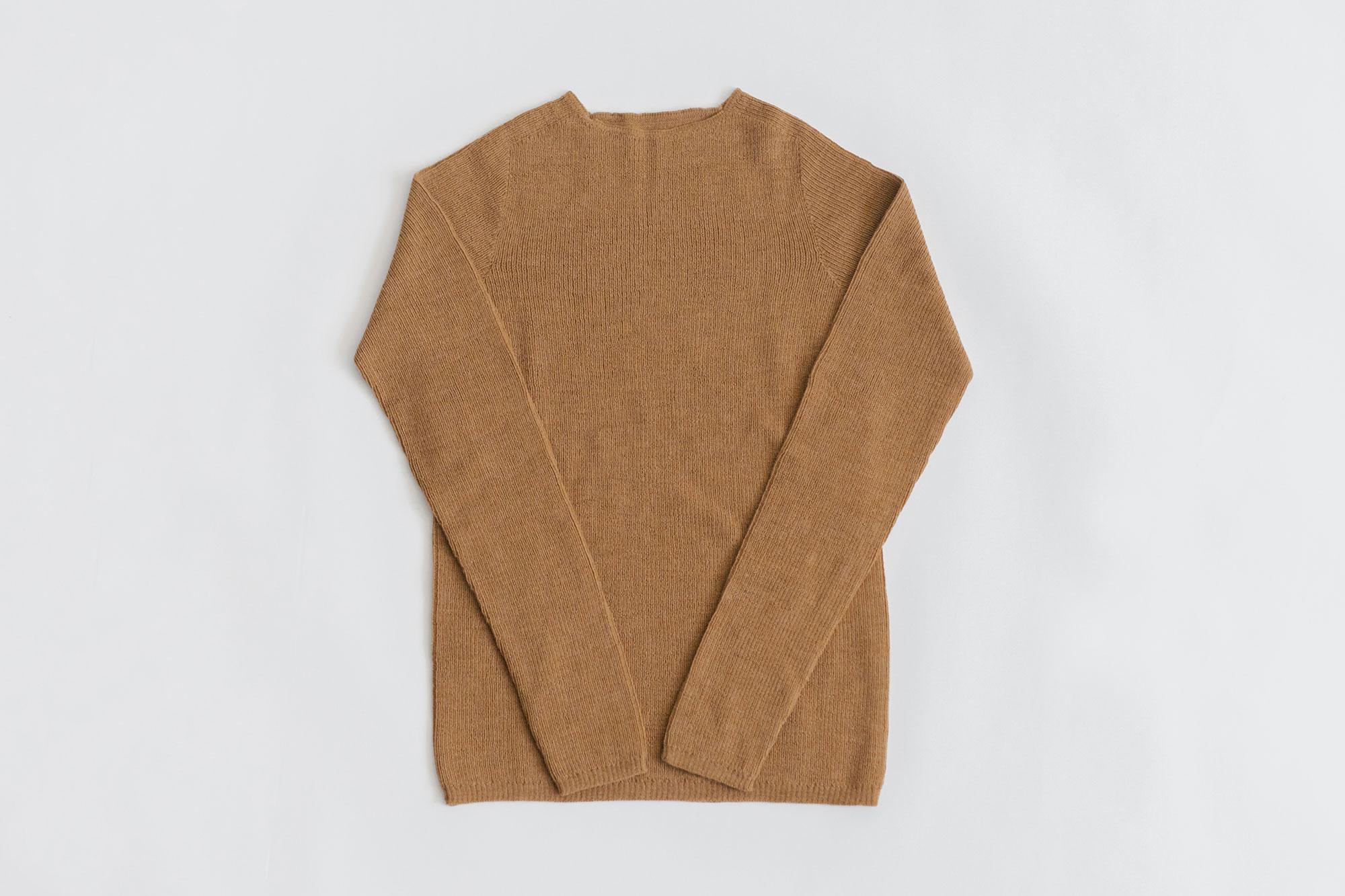 F/style ホールガーメントのリブ編みウールニット