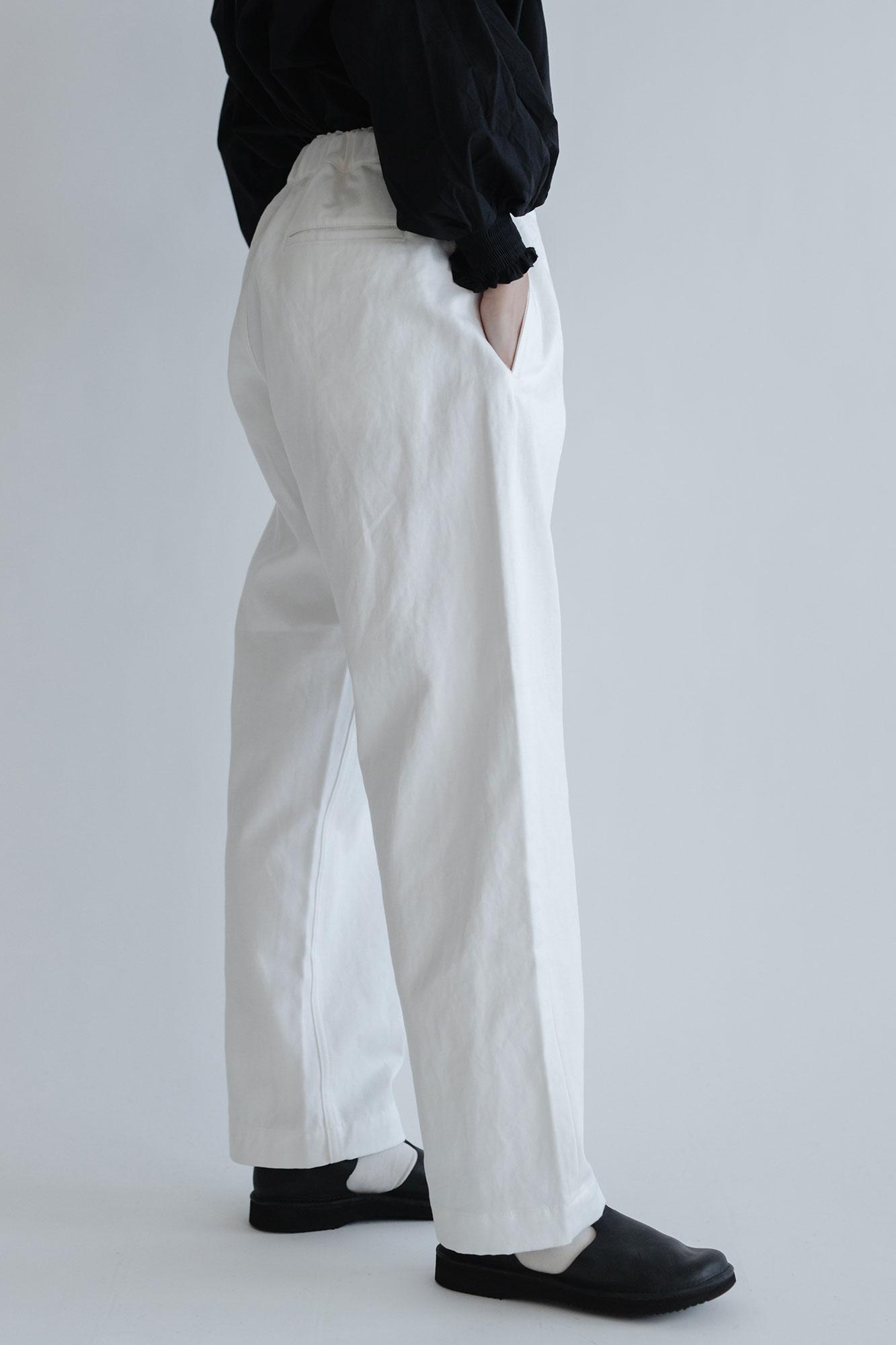 Charpentier de Vaisseau Bradley ヘリンボーン パンツ ホワイト