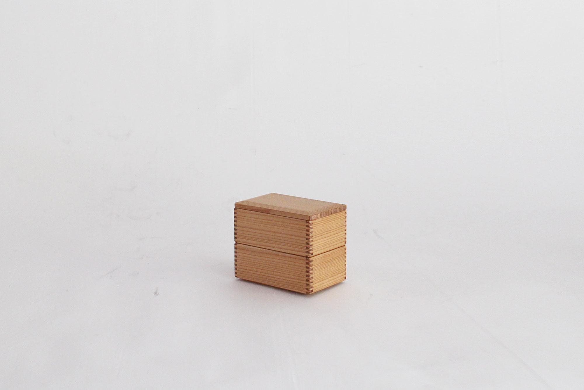 黒木クラフト工房 二段弁当箱(13×8.5cm)