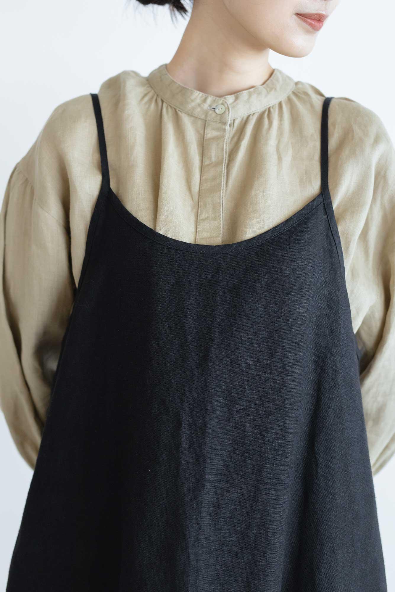 fog linen work パイパー スリップドレス ブラック