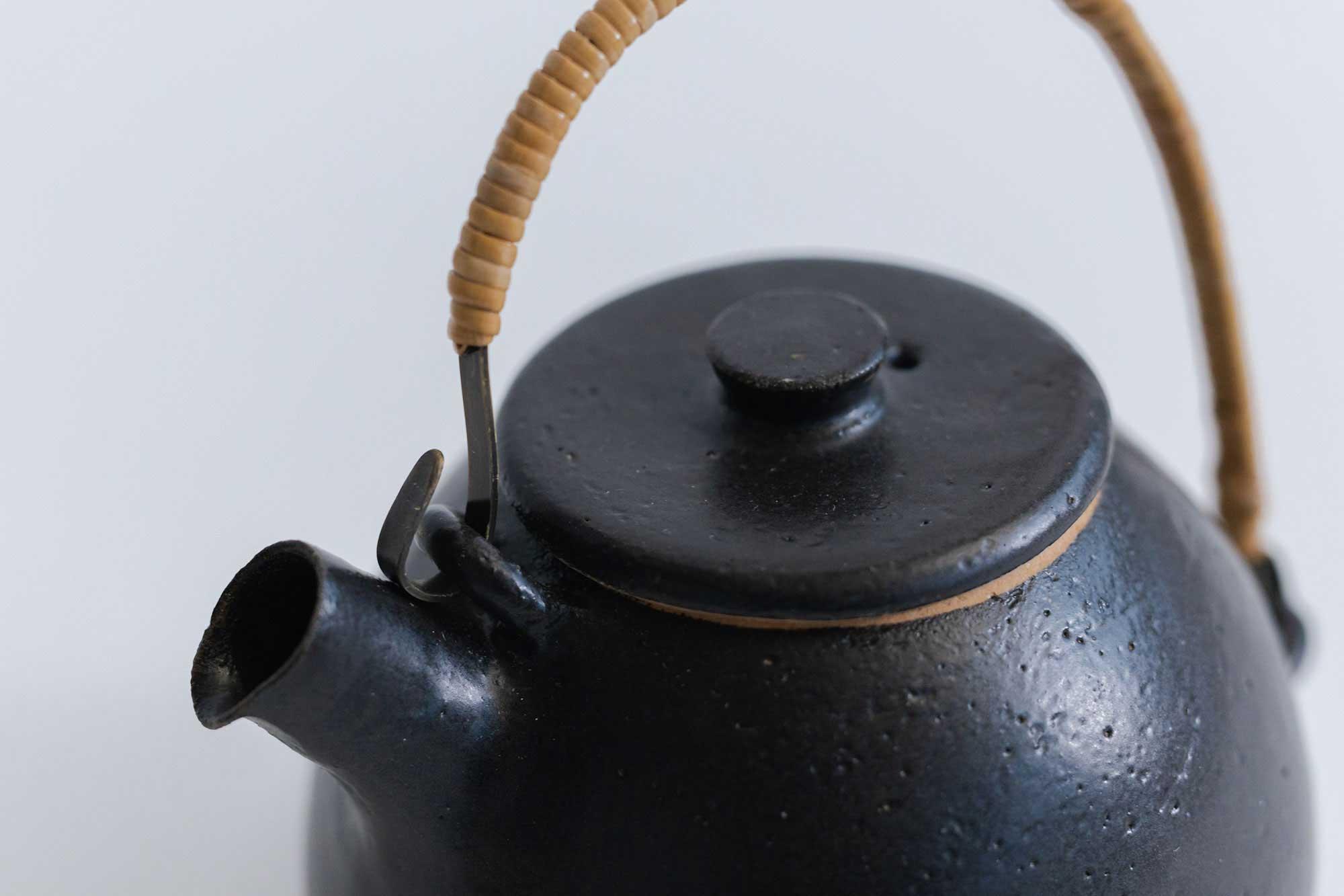 CANASA 土瓶 黒 蓋つまみあり