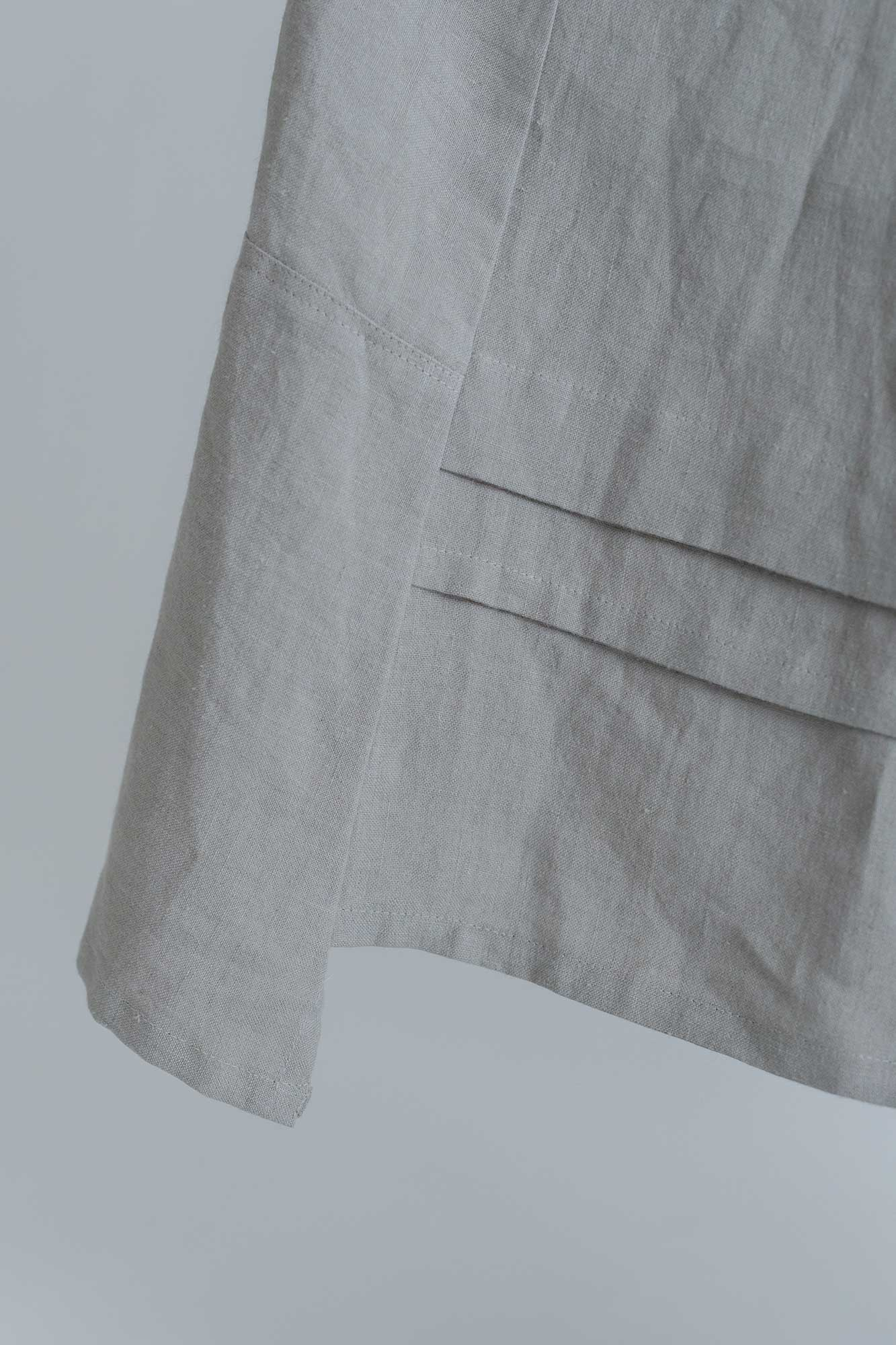 MAGALI キャンバスリネン ロングギャザースカート