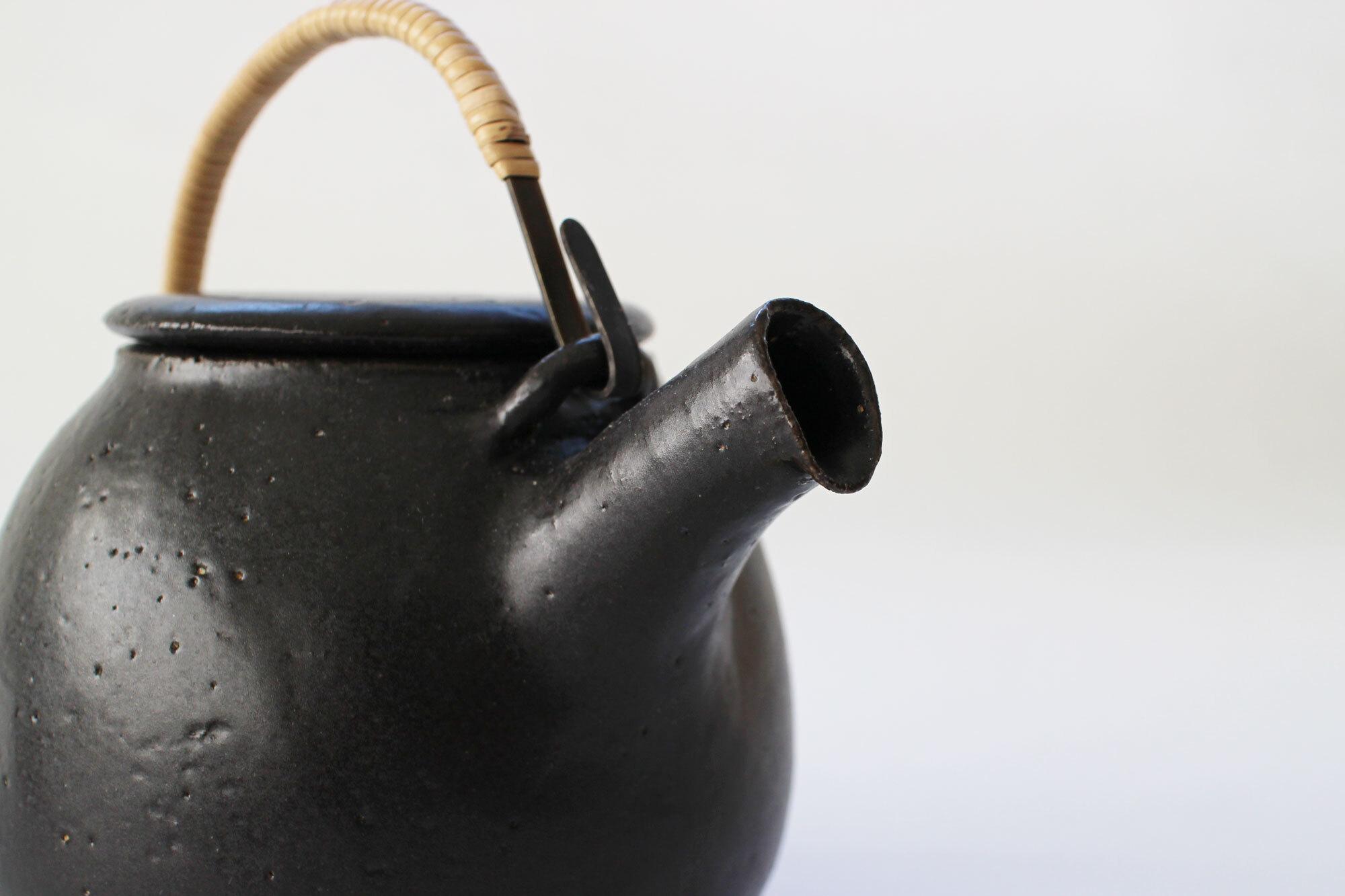 CANASA 土瓶 黒 蓋つまみなし