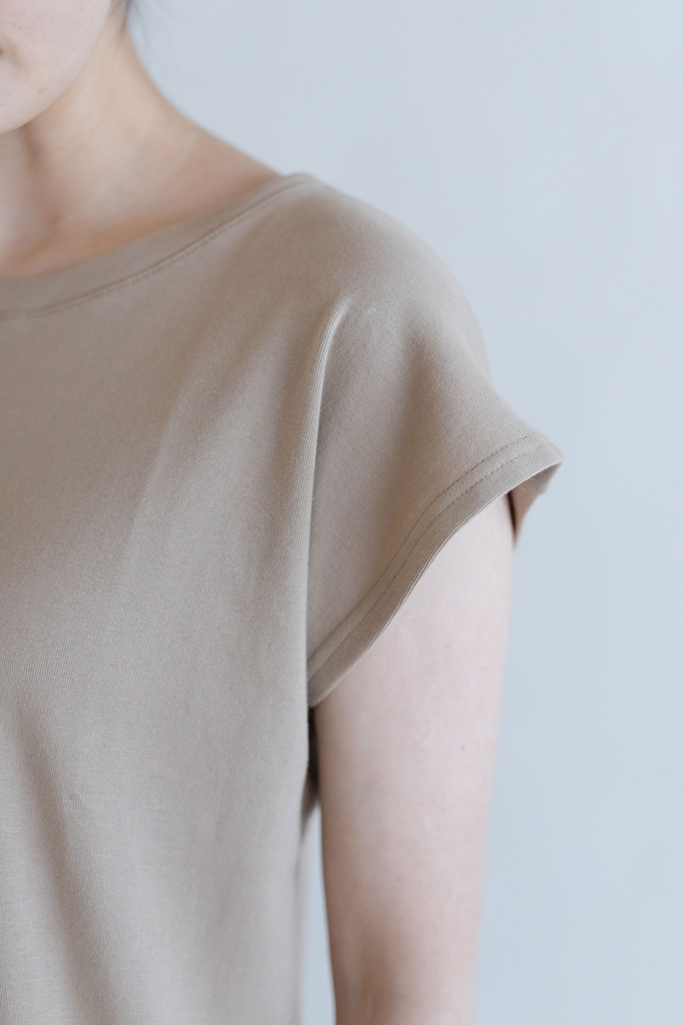 gicipi コットン フレンチスリーブTシャツ