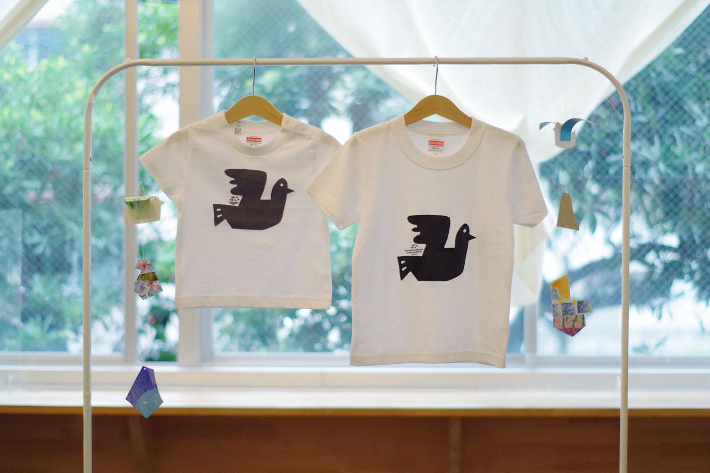 Atsushi Toyama ドローイングTシャツ BIRD