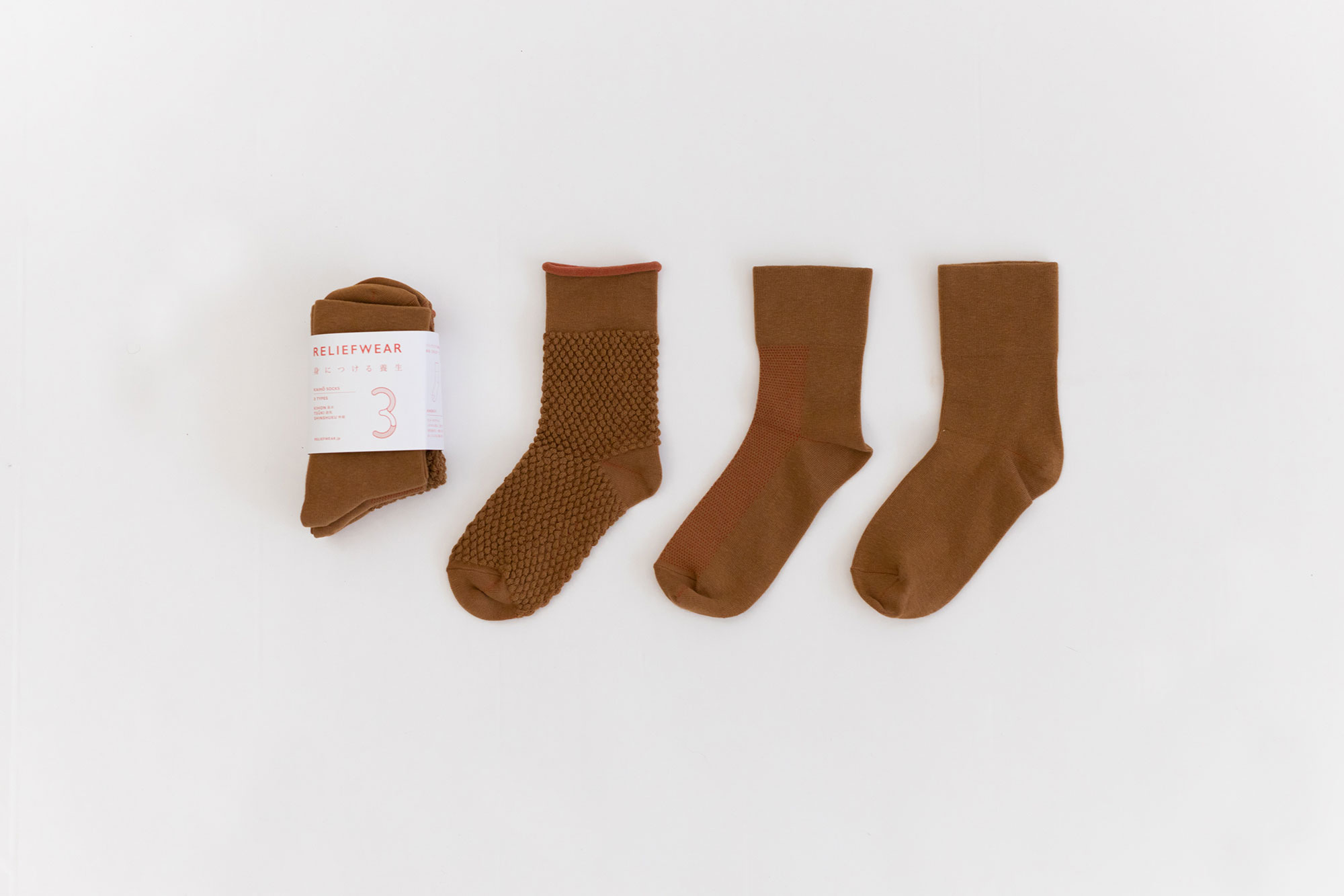 RELIEFWEAR KAIHŌ SOCKS 3 TYPE SET