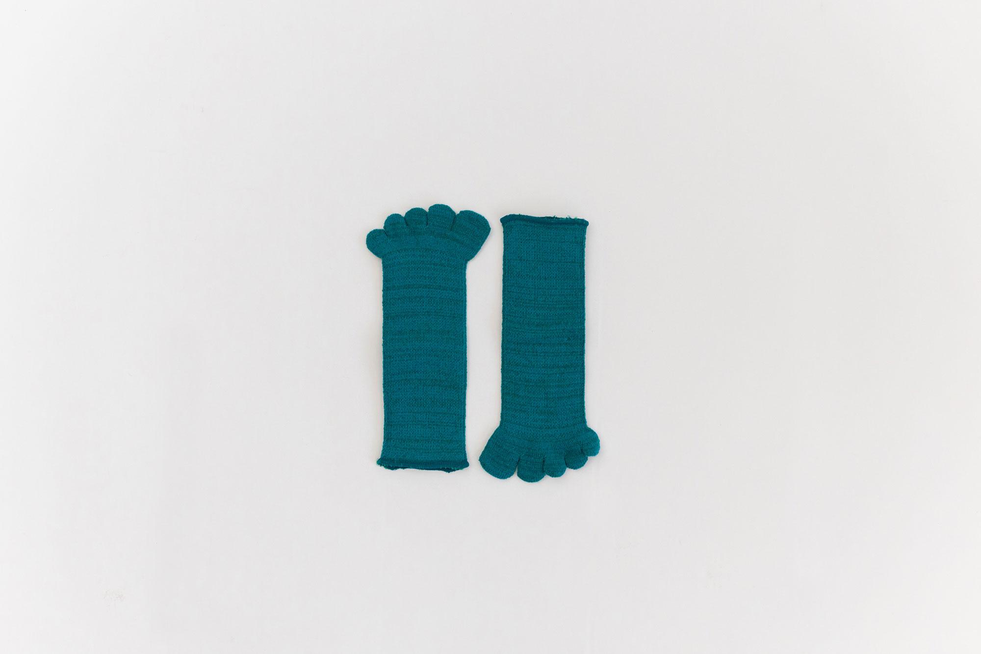 Gluck und Gute 五本指「足の肌着」絹と綿 子ども
