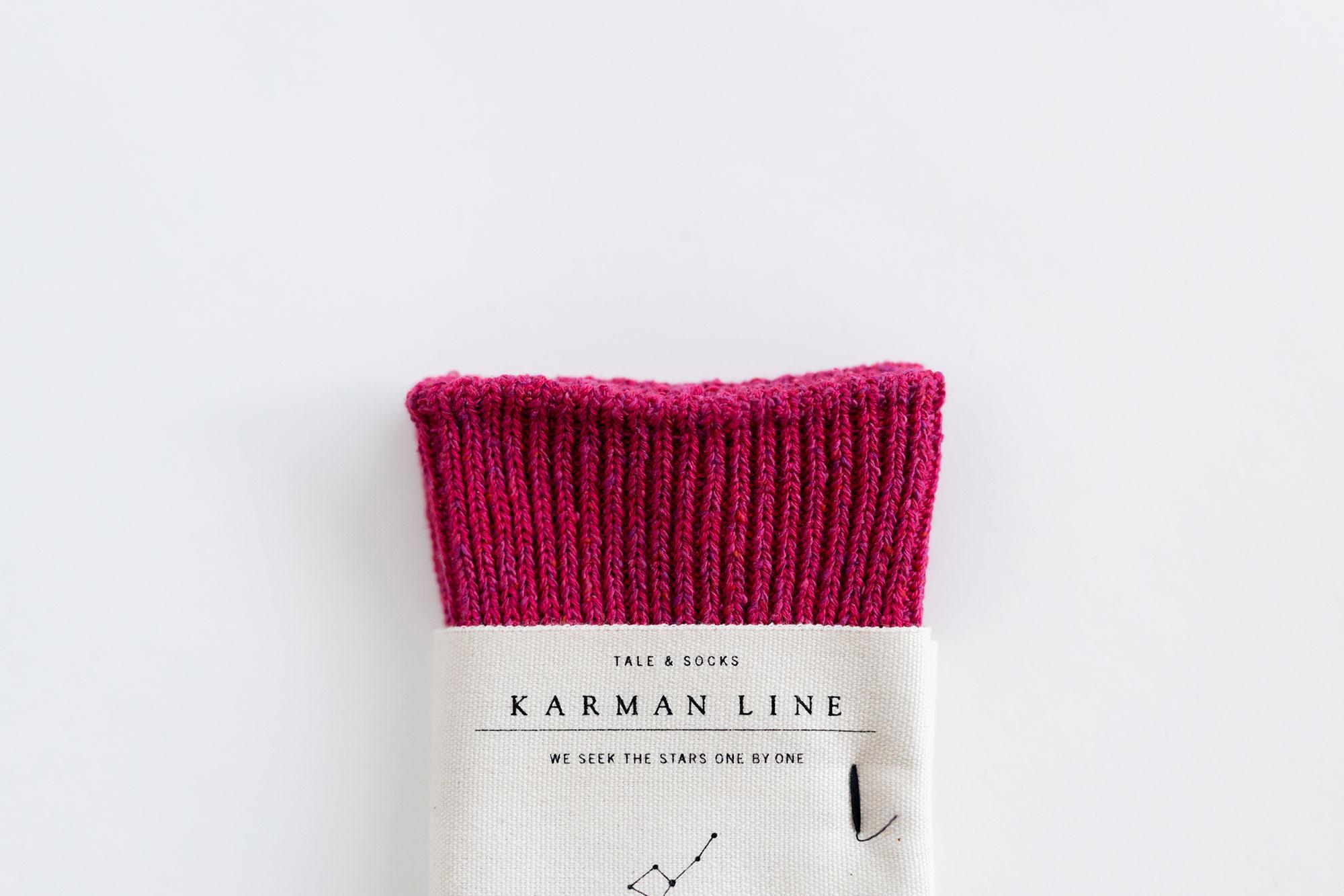 KARMAN LINE NORMA コットンシルクソックス