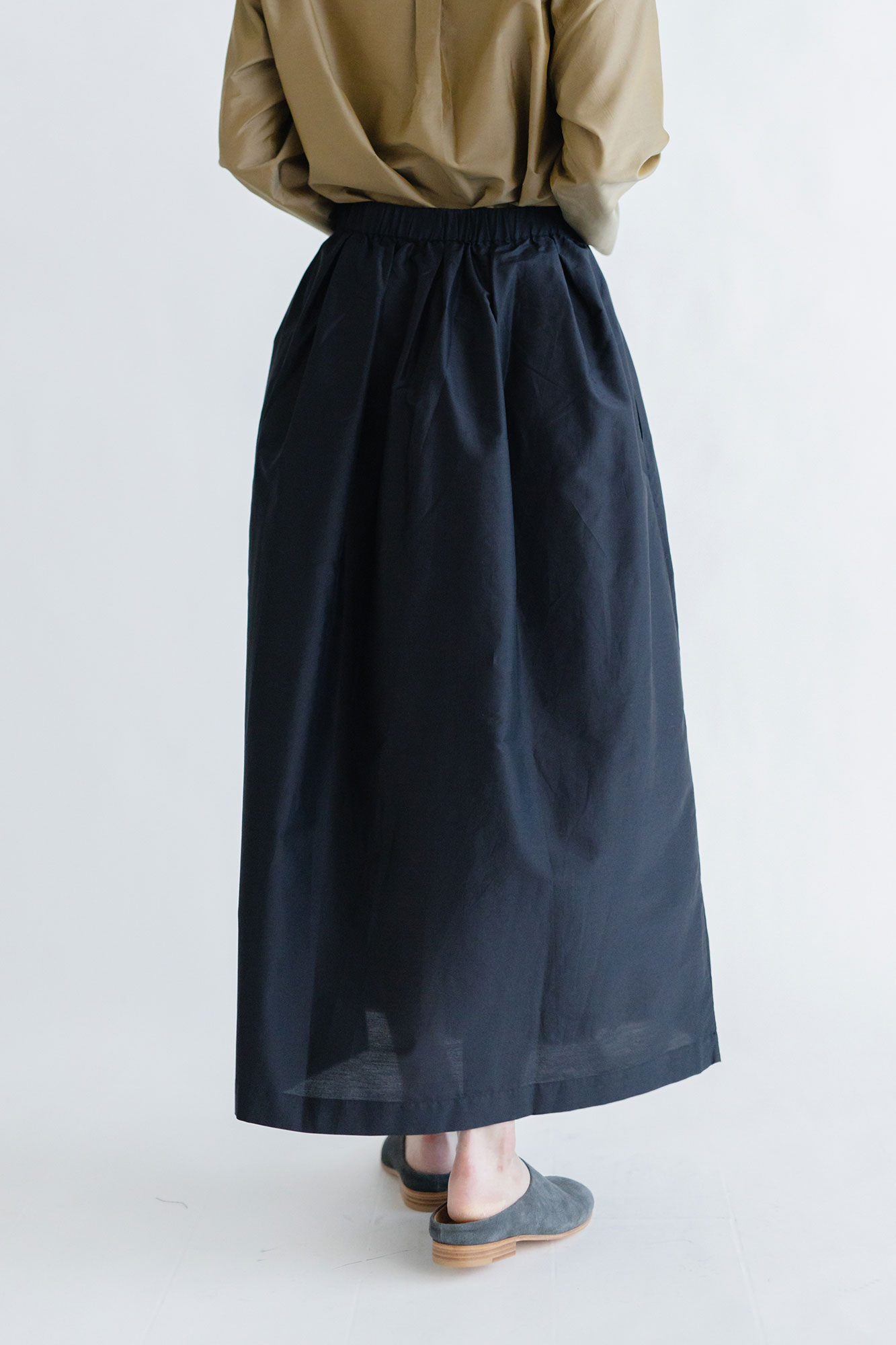 miiThaaii コットンシルク ベルマ スカート
