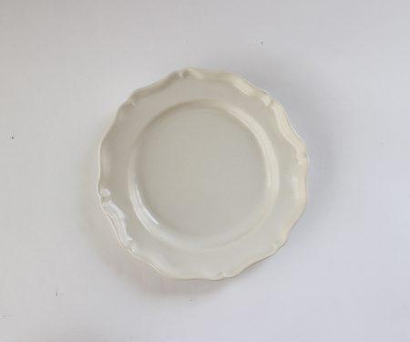 河合竜彦 白ツヤ釉 レリーフ皿(M)