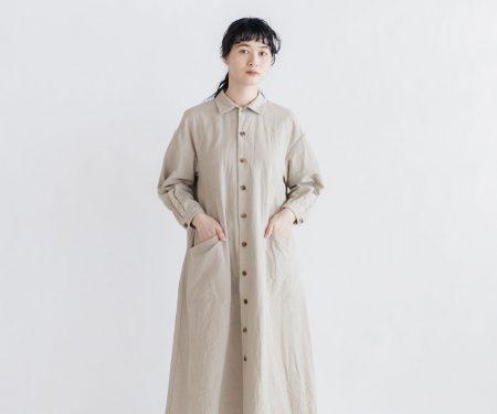YAECA WRITE ワークシャツドレス ナチュラル