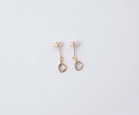 accessories mau スライスダイヤモンド ピアス