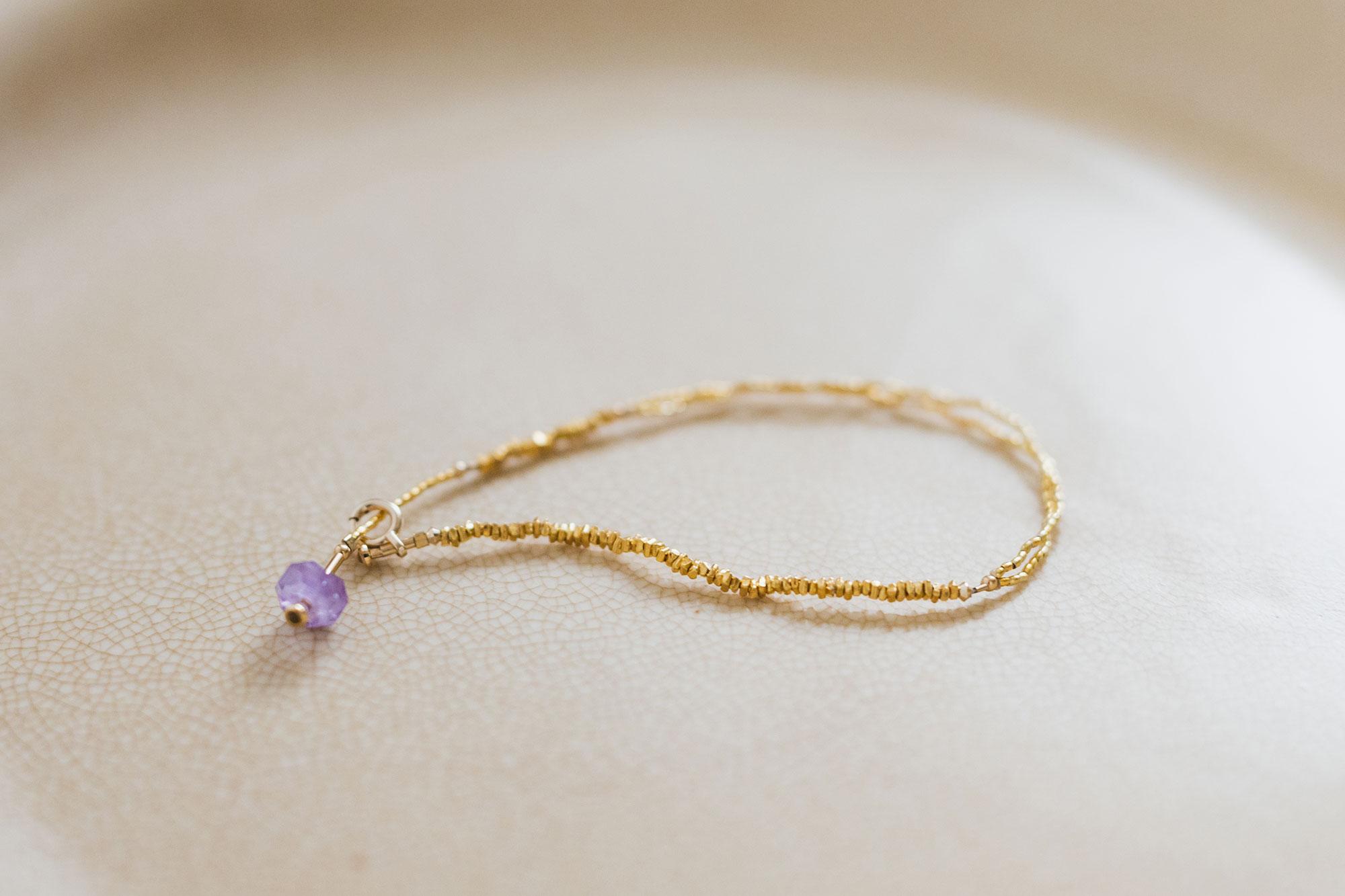 立田暁子 暁series bracelet オーラライト