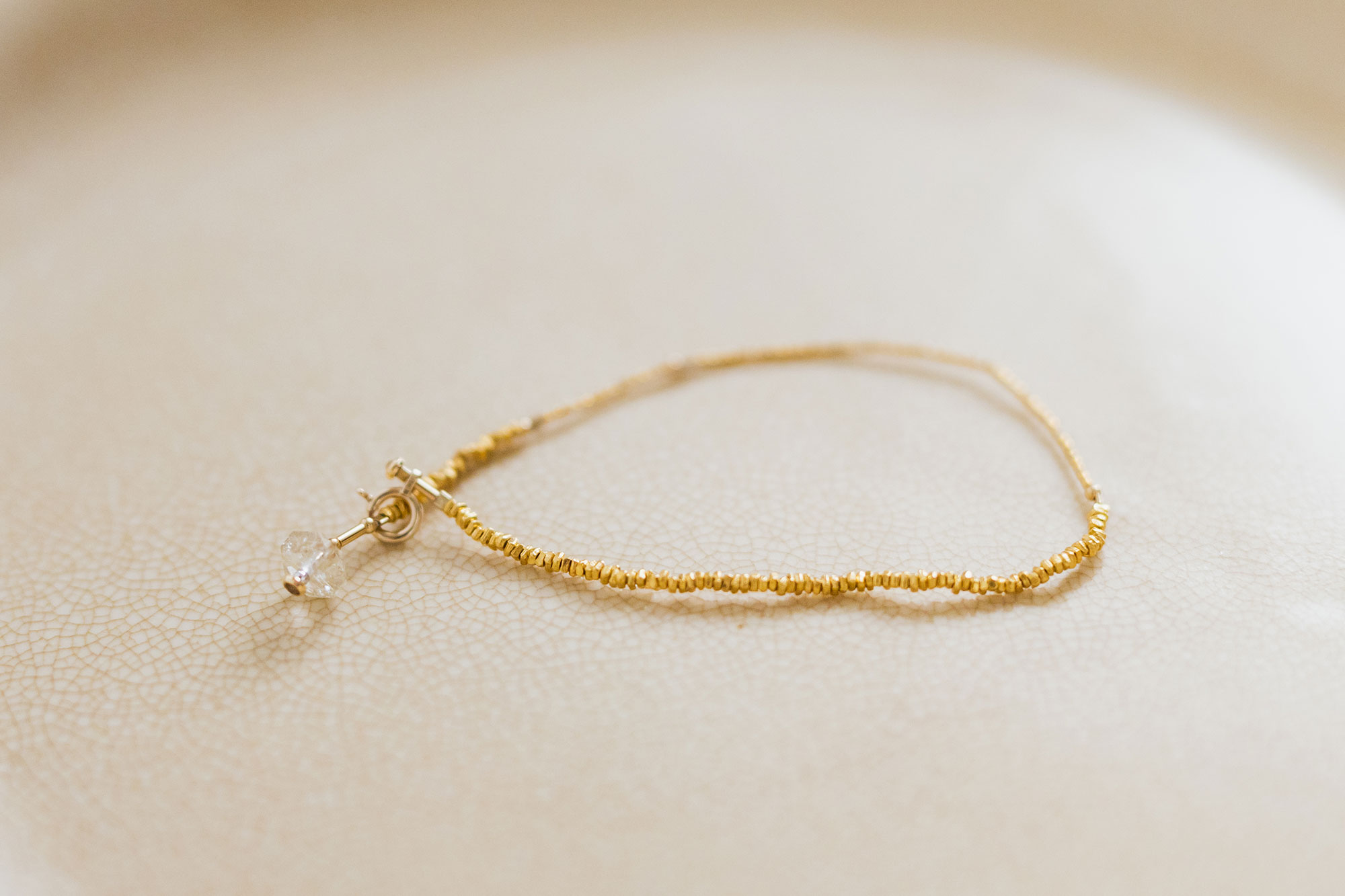 立田暁子 暁series bracelet ルチルクオーツ