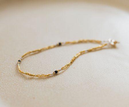 立田暁子 amulet bracelet オニキス