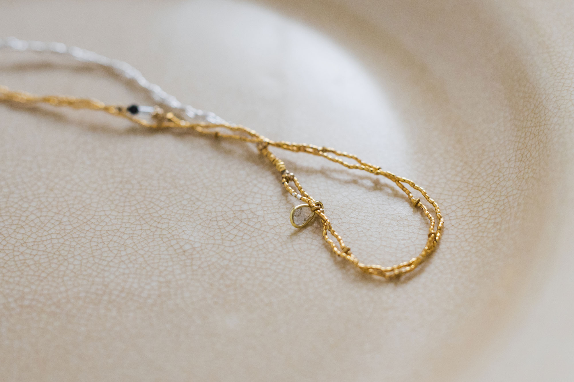 立田暁子 amulet necklace スライスダイヤモンド 45cm