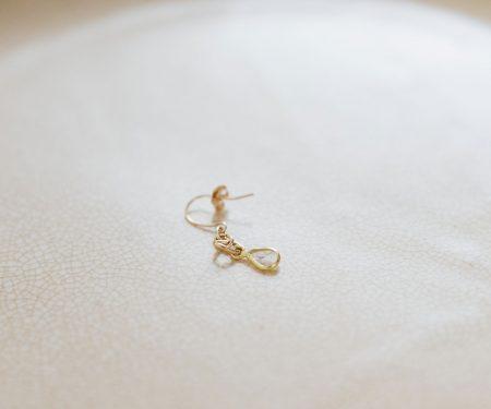 立田暁子 スライスダイヤモンド k10 pierce 片耳