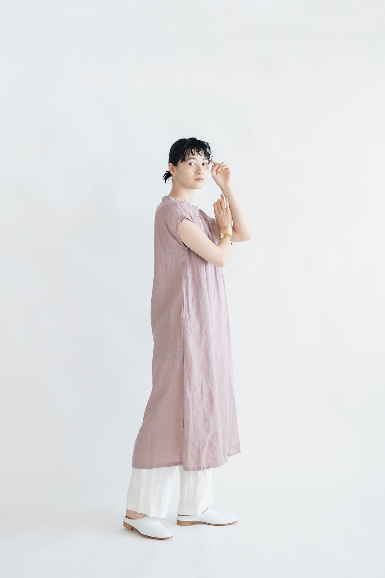 fog linen work クレア ワンピース ローズ