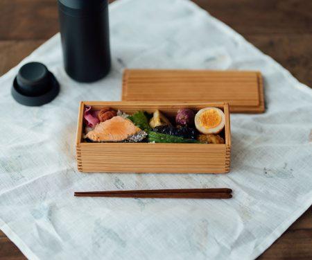黒木クラフト工房 スリム一段弁当箱(19×7.5cm)